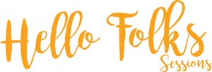 logo Hello Folks Sessions arancio